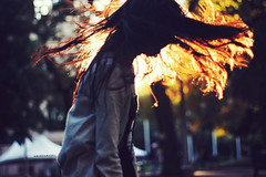 (Amanda Mabel) Tags: park winter light shadow portrait sun sunlight silhouette hair fire tents bright bokeh jacket clearing hairflip amandamabel