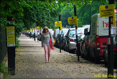`640 (roll the dice) Tags: park uk trees summer portrait urban sun signs green london art cars fashion yellow shopping traffic natural coins candid south parking strangers streetphotography unknown blondie battersea wandsworth unaware londonist sw11 stragers