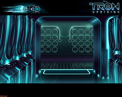 Tron Uprising #51 (Phaota2) Tags: door wallpaper computer circle arch graphic circles scene disney hallway doorway locker animation archway tron legacy uprising cgi imagery