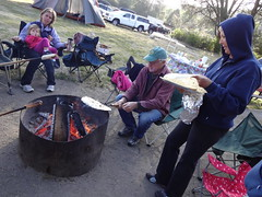 tortillas on the fire (maureenld) Tags: camping friends fun 40th bash may db campfire annual pinnacles 2012 pinnaclesnationalmonument bethereorbesquare desertbash btobs