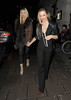 Caprice Bourret and Elen Rivas enjoy an evening out at Novikov restaurant in Mayfair. London, England