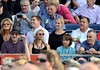 Steven Spielberg, wife Kate Capshaw and Daniel Day Lewis watch Bruce Springsteen perform at The RDS Dublin, Ireland