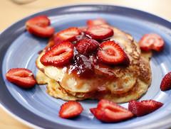 Good Morning (Elvira Kalviste Photography) Tags: food pancakes breakfast strawberry colorful plate banana
