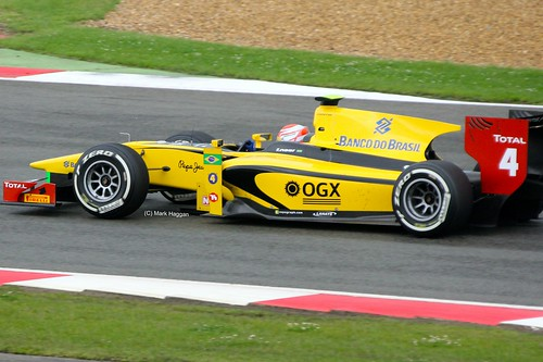 Felipe Nasr in his DAMS Racing GP2 car at Silverstone