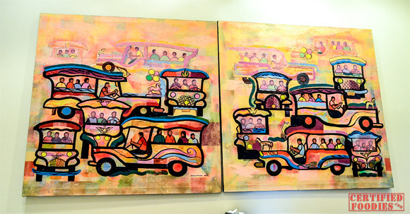 More jeepney paintings inside Cafe Jeepney