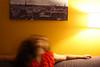 (Maieutica) Tags: light red paris muro girl wall hair photo moving foto dress arm head room movimento parete rosso luce ragazza parigi stanza braccio capelli testa vestito