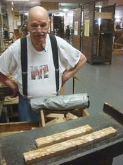 Norb & Brylski (Nick Sherman) Tags: museum hamilton wi typecon woodtype tworivers brylski norbbrylski typecon2012