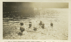 Girls in bathing caps at summer camp (Center for Jewish History, NYC) Tags: camping swimming swimmers camps bathingcaps summercamps hebreworphanasylum hebreworphanasylumofthecityofnewyork