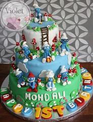 Smurfs (Violet.bh) Tags: cake bahrain birthdaycake smurf smurfs smurfette