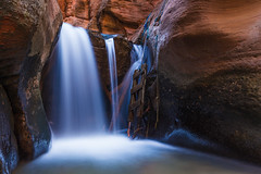 Cold March at Kanarra Creek (ashergrey) Tags: county cold creek utah waterfall spring iron long exposure canyon falls upper slot kanarra kanarraville