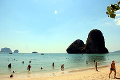 Phra Nang Bay (Yukkuriko) Tags: ocean beach strand thailand meer processed   bearbeitet krabiprovince phranangbay