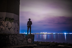 On A Structure (Evan's Life Through The Lens) Tags: camera city blue friends light summer vacation sky orange color glass beautiful night clouds vintage lens fun long exposure day purple minolta vibrant sony adventure explore saturation 2016 a7s