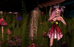 Mushroom Fae (Jamee Sandalwood - Miss V♛ SWEDEN 2015) Tags: pink flowers mushroom female mushrooms outdoors photography photo model 500v20f sl secondlife virtual pixel crown 500v slfashion finesmith whimsicalimaginarium