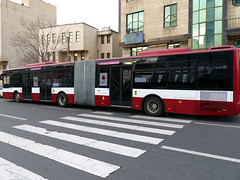 Red Accordion Bus (Kombizz) Tags: iran vehicle tehran zebracrossing 1394 freedomtower publicbus azaditower islamicrevolution ayatollahruhollahkhomeini azadisquare district9 kombizz 22bahman iranianrevolution meydaneazadi anniversaryoftheislamicrevolution 1140464 chinesemadebus 22bahman1394 moeenboulevard redaccordionpublicbus  redaccordionbus
