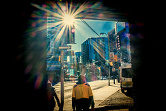 A blast of Sun 3 (dumsumdumfai) Tags: street urban sun walking lomography colorful glare streetphotography streetscene flare streetphoto lomofilter streetshot urbanlife urbanphotography urbanstreets