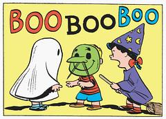 BOO BOO BOO (Tom Simpson) Tags: halloween illustration vintage comics lucy costume comic witch ghost cartoon peanuts halloweencostume boo 1950s charliebrown charlesschulz 1953 charlesmschulz lucyvanpelt vintagehalloween