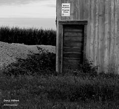 Dfense de Passer (Denis Hbert) Tags: door shadow summer blackandwhite bw signs canada black monochrome sign barn rural blackwhite woods shadows noiretblanc quebec country nb ombre qubec porte t pancarte campagne extrieur blanc grange bois montrgie shadowy richelieu vgtation 2015 ombrage aot summer2015 denishbert anthropogeo t2015