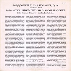 Prokofiev Piano Concerto 2 • Barber Medea's Meditation and Dance of Vengeance - Henriot Munch RCA 1 (sacqueboutier) Tags: vienna ballet france records london vintage french vinyl piano concerto lp record symphony frenchhorn français rca lps tchaikovsky lpcover liszt audiophile symphonie prokofiev lpcollection ansermet vinylcollection faure vinyllover vinylcollector vinylnation lplover lpcollector