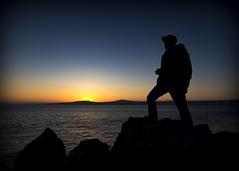 To a better tomorrow. (haqiqimeraat) Tags: sunset silhouette landscape nikon friend portraiture colourful