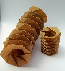 Coil Folds 6|30|S and 8|45|S (modular.dodecahedron) Tags: tomokofuse origamispiral