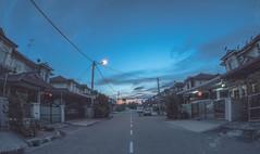 The Moment. (aludatan) Tags: street blue sky nature beautiful random fisheye amateur magichour streetshoot astoundingimage club16 sceneofthestreet