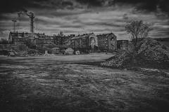 Dreary city (Revierfotograf) Tags: city black night clouds dark nikon gloomy boring slum grotte vorort
