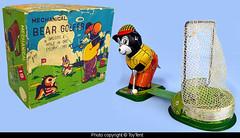 Bear Golfer T.P.S. (toytent) Tags: windup tintoy vintagetoy madeinjapan tps mechanicaltoy beargolfer toytent5622