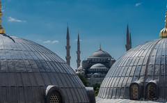 Sultanahmet Camii Mosque (woozy95) Tags: city trip travel blue roof sky turkey istanbul mosque sultanahmet camii