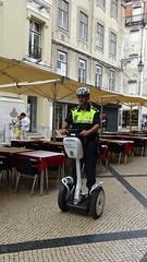 Segway Patrol by Policia Municipal, Lisbon, Portugal - May 2016 (Keith.William.Rapley) Tags: portugal lisbon police segway keithwilliamrapley segwaypatrolbypoliciamunicipal portuguesepoliceofficer