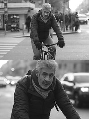 [La Mia Citt][Pedala] (Urca) Tags: portrait blackandwhite bw bike bicycle italia milano bn ciclista biancoenero mir bicicletta 2015 pedalare dittico 83950 nikondigitale ritrattostradale