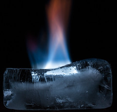 Fire and ice (Daren N.) Tags: macro ice fire melting flame mondays hotcold