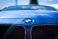 brilliant blue beamer (kevin.boyd) Tags: blue field car logo lens dof angle bokeh low grill flare bmw beamer depth sportscar