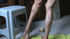 veronica calf 11 (Jonathan Mangold) Tags: woman female legs muscle muscular mature veins fitness calves flexing veiny