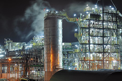 INDUSTRIAL SHAPES AT NIGHT (Wim Hazenhoek.) Tags: netherlands industrial photographer shot images nightshots wim delfzijl nikkor nikon80200mm supershot top20longexposure meesterwerk overtheexcellence nikond700 benrotripod wimhazenhoek vipveryimportantphotos hazenhoek