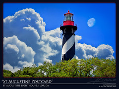 St Augustine Lighthouse Florida Postcard Style Photo