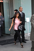 Kim Kardashian is seen departing from her Manhattan Hotel New York City, USA