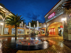 Blue Hour at Johor Premium Outlets (Shamsul Hidayat Omar) Tags: travel vacation tourism fountain beautiful architecture photography
