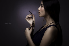 Blowing Feather (Shahrizal Jaapar) Tags: portrait color beauty female canon asian model 85mm 5d f18 flickraward 5dmk2