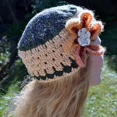 Woolen fabrics and crocheted crown (Kiwi Little Things) Tags: