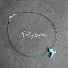 "Bluebird Necklet • <a style=""font-size:0.8em;"" href=""https://www.flickr.com/photos/37516896@N05/7549938392/"" target=""_blank"">View on Flickr</a>"
