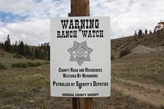 Creede, Colorado (twm1340) Tags: ranch county trip sign warning office colorado watch adventure co mineral sheriff rv camper motorhome 2012 creede