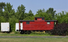 Hanna, Indiana (Bob McGilvray Jr.) Tags: railroad train tracks caboose hannaindiana