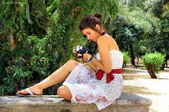 La cosa piu dolce (rossella.sol) Tags: portrait italy woman nature girl face donna italia natura sguardo sicily foulard ritratto viso sicilia ragazza faccia modella femmine obno