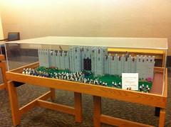 """Library """"LEGO Under Siege"""" display (vdubguy67') Tags: city castle club army birmingham war lego display library magic group alabama battle siege users catapult lug gatehouse trebuchet moc afol homewwod"""