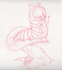 Alice in Wonderland concept (dillardma) Tags: illustration bug sketch drawing character cartoon catterpillar aliceinwonderland conceptdrawing