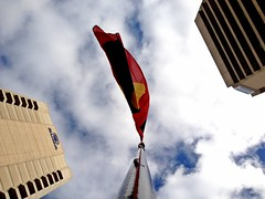 Flag (Theen ...) Tags: street hotel flying wind market flag central australian hilton adelaide aboriginal grote theen iphone4s