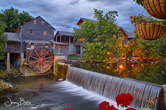 The Old Mill - Pigeon Forge, TN (Batteman87) Tags: old mill water reflections tn dynamic tennessee pigeon pro forge hdr millan pigeonforgetn 2the efex highdynamicrangehigh millthe millcorn softwarenik rangeniknik restaurantgrits millwaterfallwaterfalltennessee waterfallflowersreflectionshdr