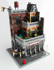 Terrace Apartment 1 (Myko-) Tags: city newyork hair apartments lego barbershop modularbuilding eurobricks