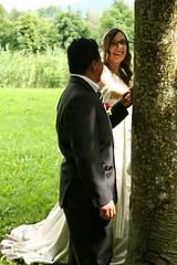 Together (Fe em Brasil) Tags: wedding groom bride switzerland happiness treetrunk holdinghands claudio 2012 janika views75 claudiojanika