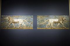panel: striding lion, 604562 B.C.; Neo-Babylonian period, reign of Nebuchadnezzar II Excavated at Wall of Processional Way, Babylon, Mesopotamia Glazed brick (branko_) Tags: new house love festival way gate war goddess lion ii years bit babylon processional mesopotamia ishtar nebuchadnezzar striding glazedbrick akitu